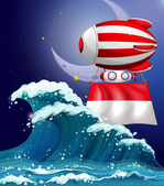 A floating balloon with the flag of Monaco — Stock vektor