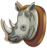 A head of a rhino — Stock Vector