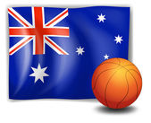 The flag of Australia with a ball — Stock Vector