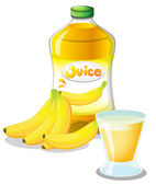Banana fruit and juice — Stock Vector