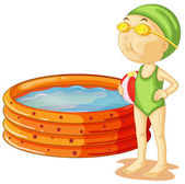 A young swimmer — Stock Vector