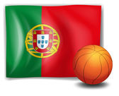 A ball and the flag of Portugal — Stock Vector