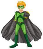 A handsome superhero — Stock Vector