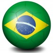 A soccer ball with the flag of Brazil — Stock Vector #42231015