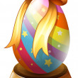 An Easter egg trophy — Stock Vector