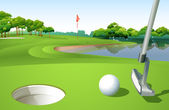 A golf course — Stock Vector