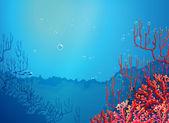 Beautiful corals under the sea — Stock Vector