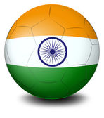 A soccer ball with the flag of India — Stock Vector