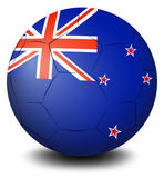 A soccer ball with the flag of New Zealand — Stock Vector
