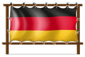 A wooden frame with a German flag — Stock Vector
