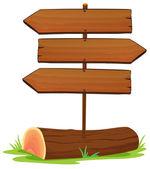 Wooden arrowboards — Stock Vector