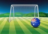 A soccer ball from Australia — Stock Vector