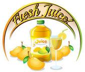 Fresh mango juice label — Stock Vector