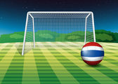 A ball at the field with the flag of Thailand — Stock Vector