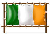 A frame with the flag of Ireland — Stock Vector