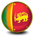 A ball with the flag of SriLanka — Stock Vector