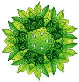 Green leafy border design — Stock Vector
