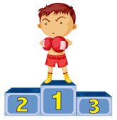 A boxing champion — Stock Vector