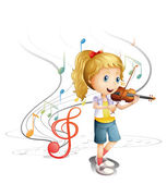 A young musician — Stock Vector