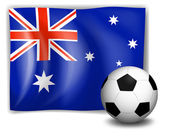 A ball and the Australian flag — Stock Vector