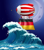 An air balloon with the flag of Germany — Stock Vector