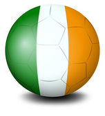 A soccer ball with the flag of Ireland — Stock Vector
