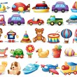 Collection of toys — Stock Vector