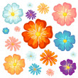 Big and small flowers — Stock Vector #43027175
