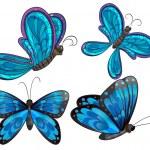 Four butterflies — Stock Vector #43027385