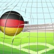 A soccer ball with the flag of Germany — Stock Vector #43029287