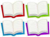 Colorful empty books — Stock Vector