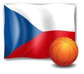 The flag of CzechRepublic and a ball — Stock Vector