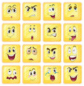 Different facial expressions — Stock Vector