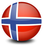 A soccer ball with the flag of Norway — Stock Vector