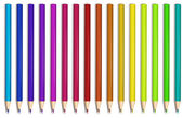 Colorful pencils — Stock Vector