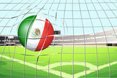 A soccer ball with the flag of Mexico — Stock Vector