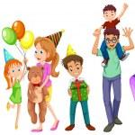 Happy families — Stock Vector
