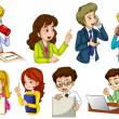 Different people working in an office — Stock Vector #43064415