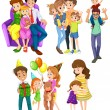 Different families — Stock Vector