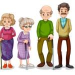 una gran familia extendida — Vector de stock  #43065267