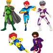 Five superheroes — Stock Vector #43065947