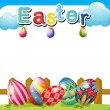 An Easter Sunday template — Stock Vector