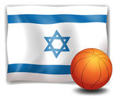 The flag of Israel at the back of a ball — Stock Vector