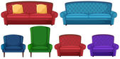 A collection of different chairs — Stock Vector