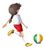 A soccer player from Ireland — Stock Vector