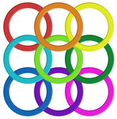 Colorful ring pattern — Stock Vector