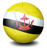 A ball with the flag from the country of Brunei — Stock Vector