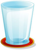 A clear drinking glass — Stock Vector