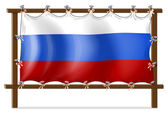 A frame with the flag of Russia — Stock Vector