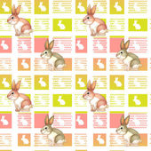 A seamless design with bunnies — Stock Vector